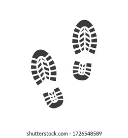 Footprint icon isolated on white background. Vector illustration
