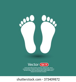 footprint icon. One of set web icons