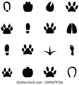 footprint icon set