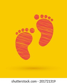 Footprint icon. Vector illustration.