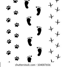Footprint on white - Vector