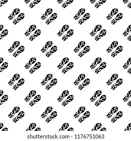 Footprint of shoe sole seamless pattern. Vector illustratioon.