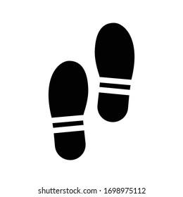 footprint vector glyph flat icon