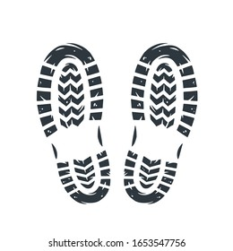 Footprints of human shoes, shoe sole,  footsteps, people foot steps