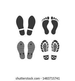 Footprints icon template color editable. Footprints symbol vector sign isolated on white background.