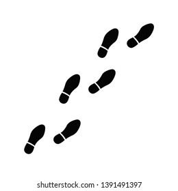 Footprints of men's shoes vector icon