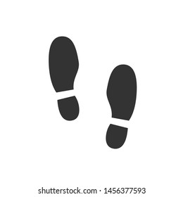 Footsteps icon template color editable. Shoes Footsteps symbol vector sign isolated on white background. Simple logo vector illustration for graphic and web design.