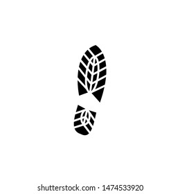 Footsteps shoe vector icon. Flat icon symbol of footprints on shoes