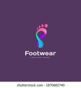Footwear logo icon design vector concept