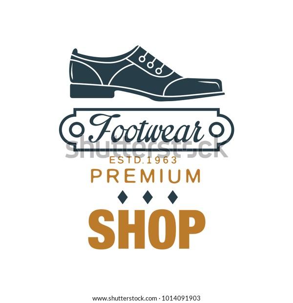 Footwear Premium Shop Logo Estd 1963 Stock Vector (Royalty