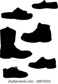 Footwear silhouettes.