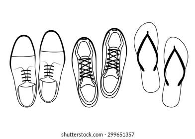 footwear top view