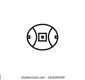 Footy field vector isolated flat illustration. Footy field icon