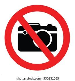 forbidden camera vector