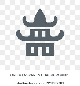 Forbidden city icon. Trendy flat vector Forbidden city icon on transparent background from Architecture and Travel collection. High quality filled Forbidden city symbol use for web and mobile