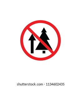 It is forbidden to climb a tree, it is forbidden to climb, it is forbidden to go up, CYMK color , glyph icon