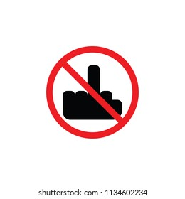 it is forbidden to display the FAСK, it is forbidden to run, the sign is prohibited, CYMK color , glyph icon ,