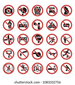 forbidden and prohibited Vector Icon