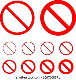 Forbidden, Prohibition, Rescricted Sign Vector Illustration