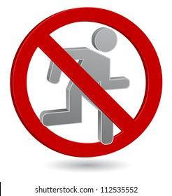 forbidden running man icon