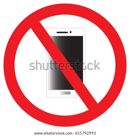 Forbidden Sign Do Not Use Mobile Stock Vector Royalty Free