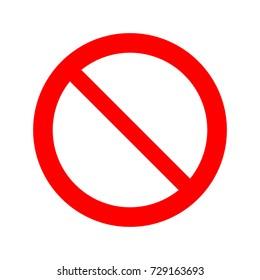 Forbidden sign vector icon.