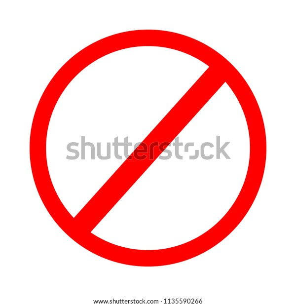 image regarding Printable Stop Sign named Forbidden Signal Vector Prohibition Signal Template Inventory Vector