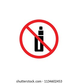 it is forbidden to smoke VAPE, it is forbidden to smoke, it is forbidden to smoke the VAPE indoors , CYMK color , glyph icon