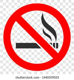 Forbidden smoking EPS vector pictogram. Illustration contains flat forbidden smoking iconic symbol on a chess transparent background.