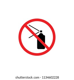 it is forbidden to spray, it is forbidden to draw, it is forbidden to sign , CYMK color , glyph icon