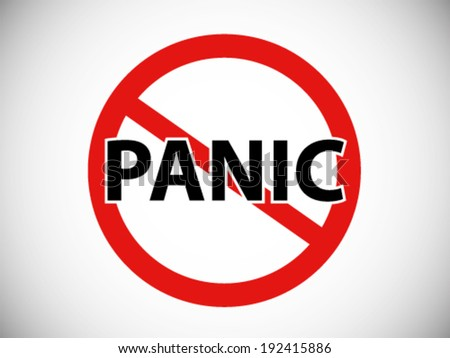 Forbidden Symbol No Panic Stock Vector Royalty Free 192415886