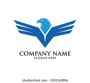 force freedom strong eagle phoenix vector logo design template