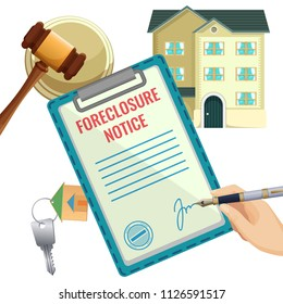 Foreclosure process, house selling due bank obligation