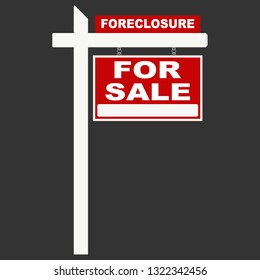 foreclosure sign, for sale sign