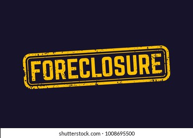 foreclosure sign, vector