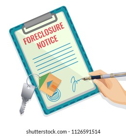 Foreclosure vector illustration isolated on white backdrop