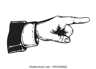 Forefinger pointing the direction - icon