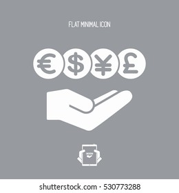 Foreign currency exchange service - Minimal icon