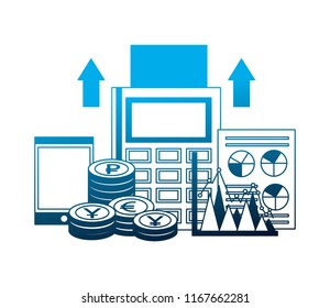 foreign exchange dataphone smartphone currency chart document