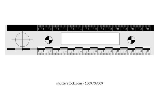 Forensic ruler for the measuring of a crime scene evidence
