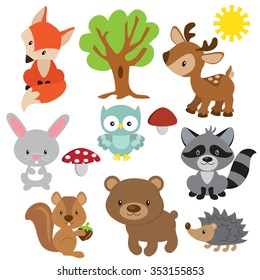 Forest animal vector illustration