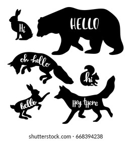 picture about Free Printable Forest Animal Silhouettes known as Animal Silhouette Pics, Inventory Images Vectors Shutterstock