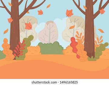 forest autumn season landscape scene