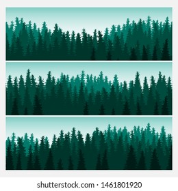 Forest beautiful banners - vector