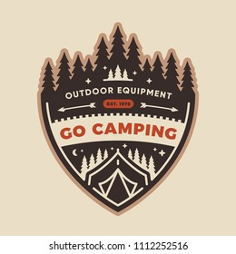 Forest camp badge patch design