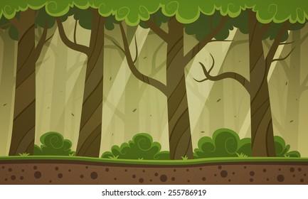 Forest Cartoon Background