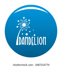 Forest dandelion logo icon. Simple illustration of forest dandelion vector icon for any design blue