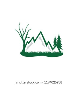 Forest and mountain grapic design template