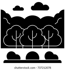 forest park  icon, vector illustration, sign on isolated background