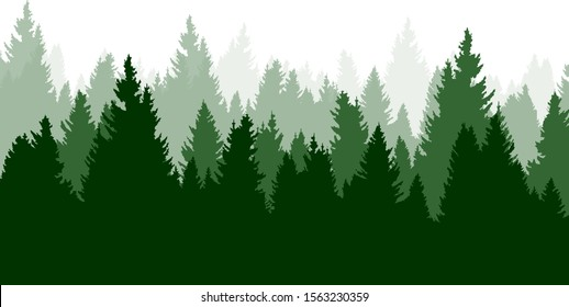 Forest pattern, nature vector background concept
